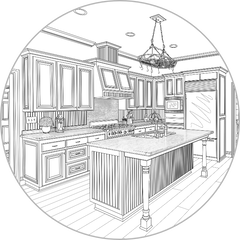 We design complete building plans for your kitchen or bath remodel. Our construction plans are accepted by all the local building departments in Boise, Meridian, Eagle & Nampa.