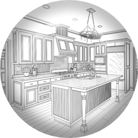 Full service kitchen and bath design that includes space layout, cabinet design, remodel design. We're Boise's kitchen & bath designers.